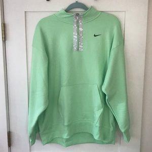 Nike Neon Green Zip-Up Sweatshirt